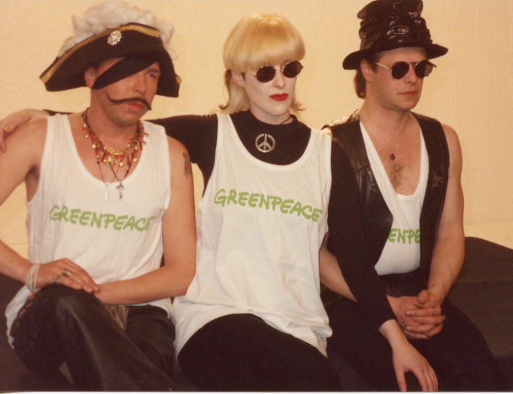 Sukachov, Stingray & Boris at Come Together video shoot early 90's
