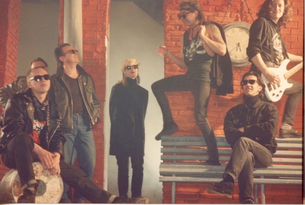 Everything Is Rock n' Roll video shoot, moscow 90's