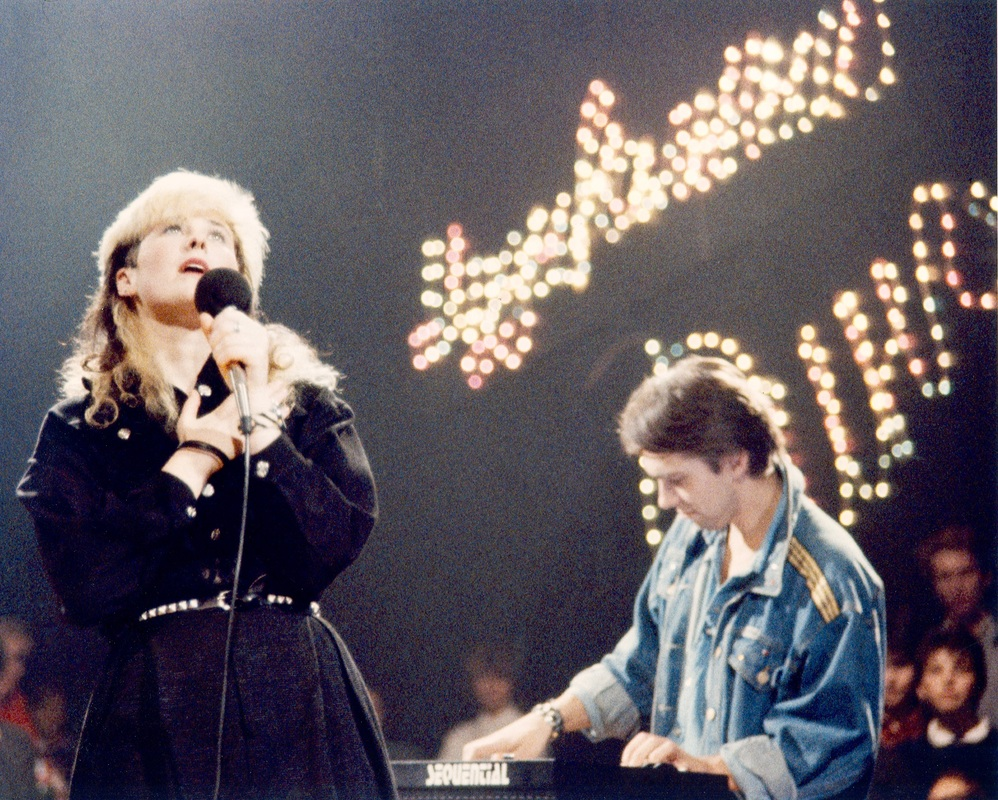 Stingray & Kuryokhin on Music Ring TV show, Leningrad 80's