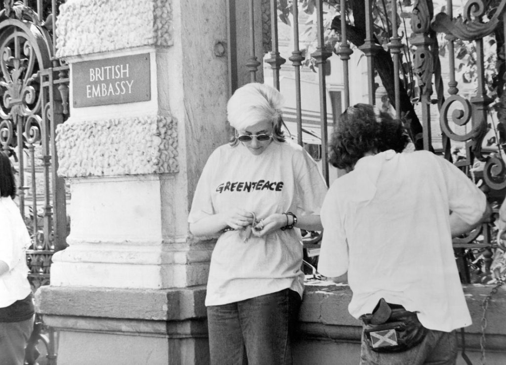 Greenpeace action Moscow British Embassy 90's