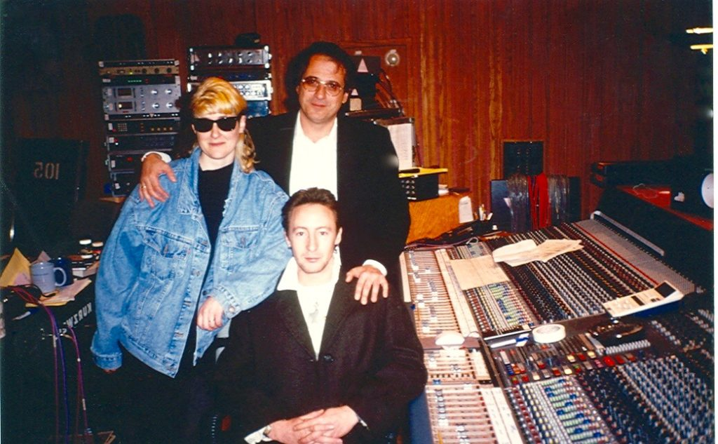 Stingray with producer Bob Erzin & Julian Lennon early 90'sjpg