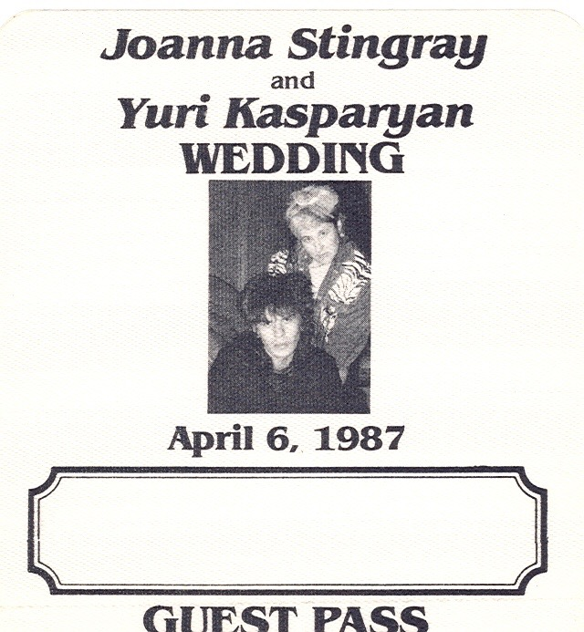 Pass for Wedding Party