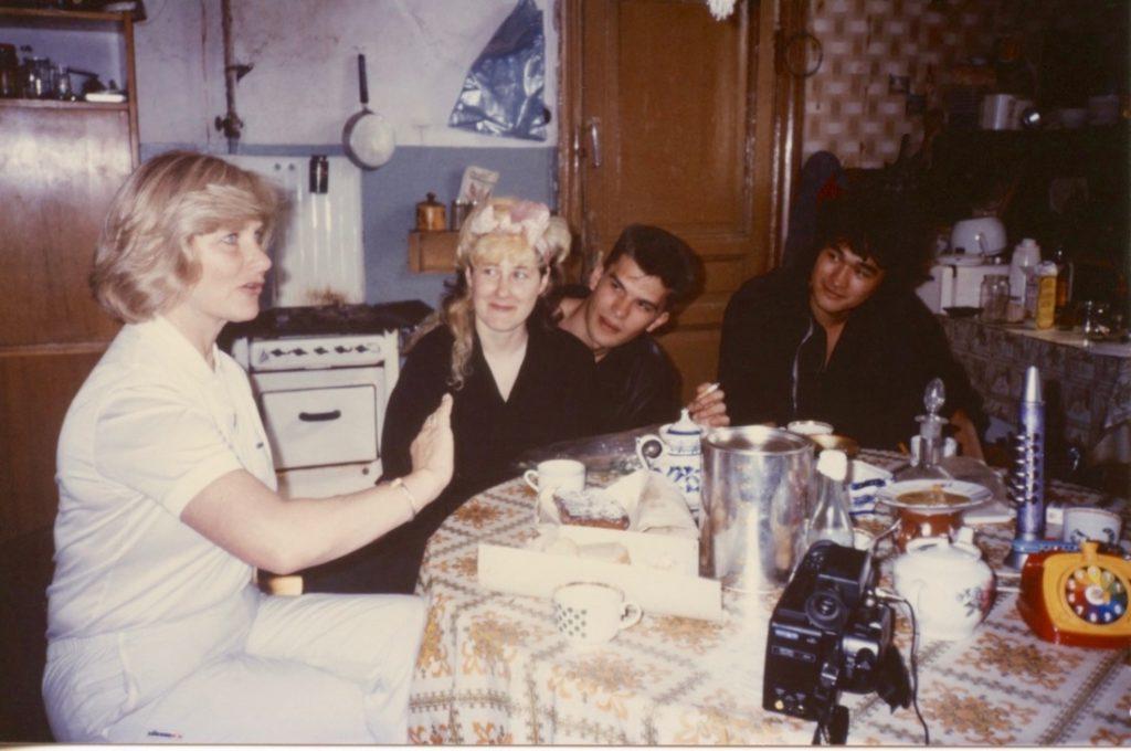 7 hours in Lenigrad, Joanna's mom, Joanna, Yuri and Victor 1987