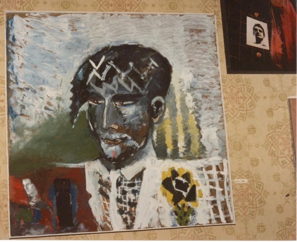 Timur Novikov, self portrait