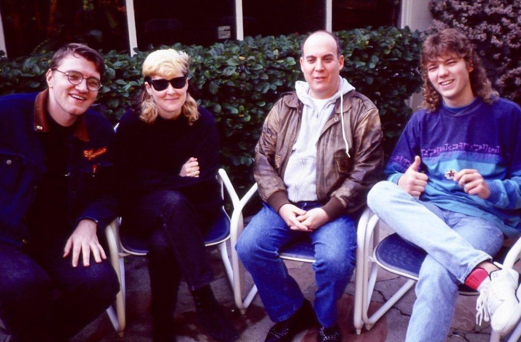 Big Misha, Stingray, Howie Klein (head of Warner Bros.) and friend