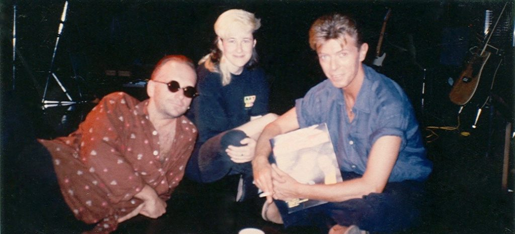 Stingray with David Bowie for her Red Wave Presents program, early 90's